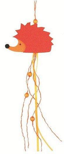 Iný materiál - Ježko z filcu na zavesenie oranžový 25cm - 7881020_
