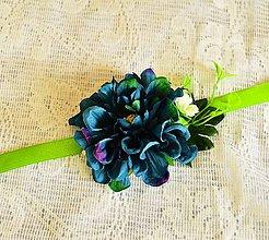 Náramky - Náramok s modrou kvetinou - 7879322_