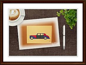 Kresby - Maľované tri obrázky - Autá  29,7 x 21 cm - 7880202_