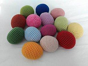 Dekorácie - veľkonočné vajíčka háčkované - 7880539_