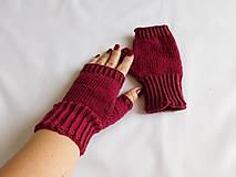 Rukavice - jednoduché 100% Merino rukavičky bez prstov - 7877536_