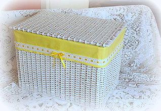 Košíky - košík - truhlica v žltom šate - 7877471_
