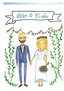 Papiernictvo - svadobné oznámenie - personalizovaný návrh - 7879126_