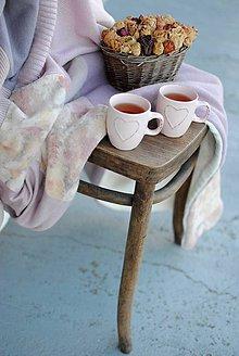 Úžitkový textil - Vintage ružičková deka - 7877764_