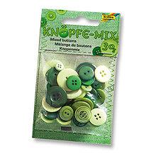 Galantéria - Gombíky - zelené mix - 7881423_
