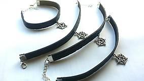 Náramky - Kožený náramok pentagram  - 7882492_