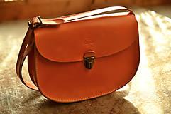 Kabelky - kabelka kožená PANACEA BASIC oranžová, S - 7884900_