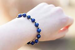 Náramky - náramok lapis lazuli a pyrit - 7884901_
