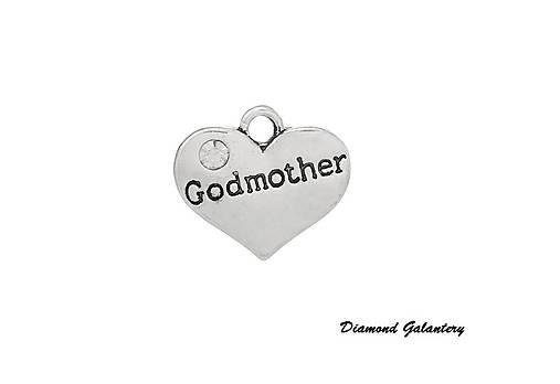 Prívesok so štrasom God Mother   diamond galantery - SAShE.sk ... 7c8feb5a281