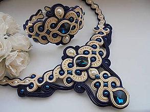 Sady šperkov - Soutache set Dita - modrý - 7883487_