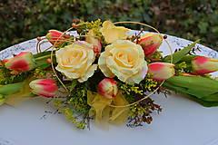 Dekorácie - Ikebana s tulipánmi - 7882708_