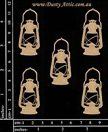 Papier - Dusty Attic - mini Lanterns - Lampášiky (mini) - 7881494_