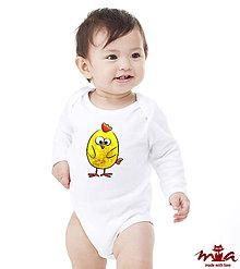 Detské oblečenie - Chicklet - detské body - 7882468_