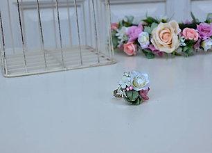 Prstene - kvetinový prsteň - 7882021_