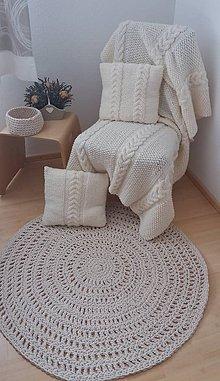 Úžitkový textil - hackovany koberec - 7884735_