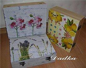 Krabičky - 12 priečinková krabica na čaj - 7883808_