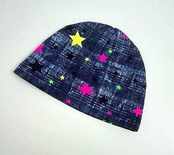 Detské čiapky - jarná čiapka Stars - 7887977_