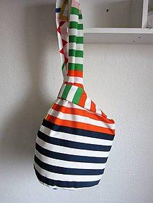 Batohy - Letná pásikavá taška-batôžtek - 7885728_