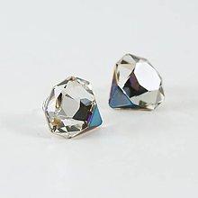 Náušnice - DIAMOND náušnice - striebro AG925 - 7886347_