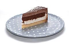 Nádoby - Šedý tanier s bodkami - 7887765_