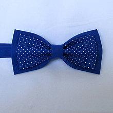 Doplnky - motýlik pánsky modrý bodkovaný - 7886460_