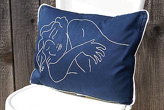 """Úžitkový textil - Obliečka na vankúš s ručne vyšívaným vzorom """"Matisse"""" - 7885191_"""