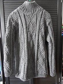 Oblečenie - pánsky polorolák šedý - 7887057_