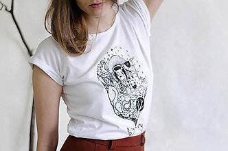 Tričká - Tričko voľné_vtáčky rapotačky  - 7886076_
