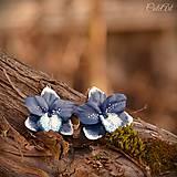 Modrá orchidea II. - náušnice visiace
