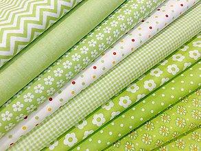 Textil - 100% bavlna -Jarná zelena - 7885850_