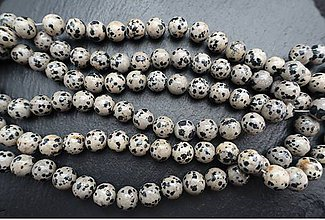 Minerály - Jaspis dalmatinec tmavý 10mm - 7887925_