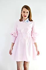Šaty - Gingham lolita šaty v ružovej  - 7885692_