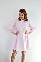 Šaty - Gingham lolita šaty v ružovej  - 7885693_