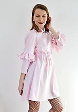 Šaty - Gingham lolita šaty v ružovej  - 7885694_
