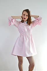 Šaty - Gingham lolita šaty v ružovej  - 7885695_