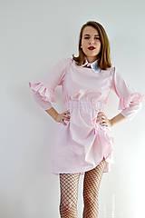 Šaty - Gingham lolita šaty v ružovej  - 7885696_
