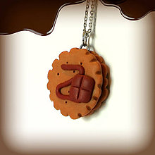 Kľúčenky - Keksík (s čokoládovou polevou) - 7885425_