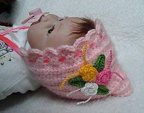 Detské čiapky - Ružový čepiec - 7891025_