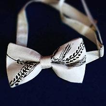 Doplnky - hodvábny motýlik Klas pšenice - 7889312_