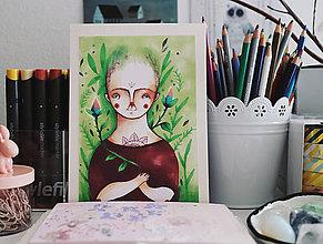 Grafika - Dušička pestuje - 7890014_