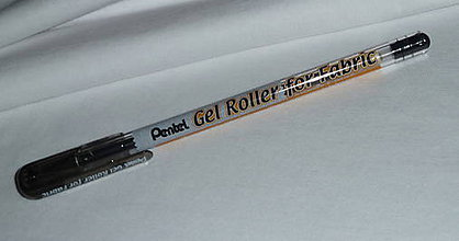 Farby-laky - Čierne gélové pero na textil - 7890075_