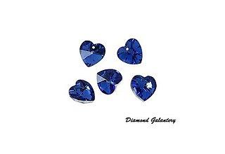 Komponenty - Prívesok srdiečko - kráľovská modrá - 7889056_