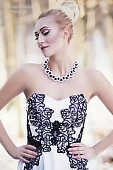 """- perlový náhrdelník black & white – """"white day"""" - 7889477_"""