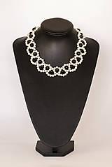 """Náhrdelníky - perlový náhrdelník black & white – """"white day"""" - 7889481_"""
