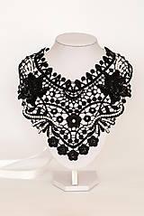 """Náhrdelníky - čipkovaný náhrdelník black & white – """"black day"""" - 7889685_"""
