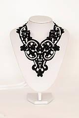 """Náhrdelníky - čipkovaný náhrdelník black & white – """"black day"""" - 7889732_"""