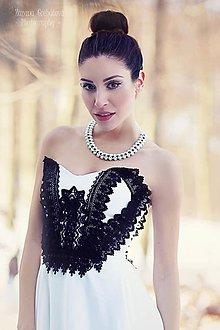 """Náhrdelníky - perlový náhrdelník black & white – """"white day"""" - 7889521_"""
