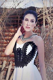 """Náhrdelníky - perlový náhrdelník black & white – """"white-black day"""" - 7889626_"""