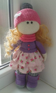 Hračky - Háčkovaná bábika - 7889531_