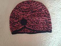 Čiapky - čiapka červený melír - 7889134_
